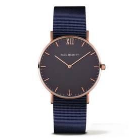 PAUL HEWITT Sailor Line Watch Rose Gold Blue Lagoon Navy Blue - Paul Hewitt miesten rannekellot - PH-SA-R-St-B-N-20 - 1