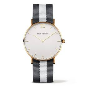 PAUL HEWITT Sailor Line Watch Gold White Sand Grey-White PH-SA-G-St-W-GrW-20 - Paul Hewitt miesten rannekellot - PH-SA-G-St-W-GrW20 - 1