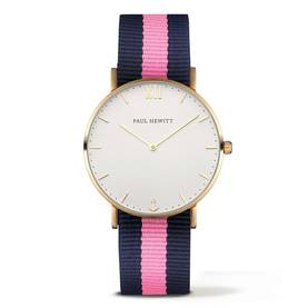 PAUL HEWITT Sailor Line Watch Gold White Sand Navy Blue- Light Pink - Paul Hewitt naisten rannekellot - PH-SA-G-Sm-W-NLP20 - 1