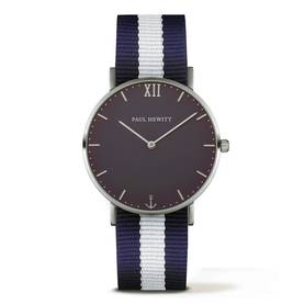 PAUL HEWITT Sailor Line Watch Silver Blue Lagoon Navy Blue-White PH-SA-S-Sm-B-NW-20 - Paul Hewitt naisten rannekellot - PH-SA-S-Sm-B-NW-20 - 1