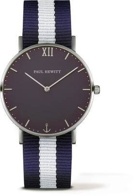 PAUL HEWITT Sailor Line Watch Silver Blue Lagoon Navy Blue-White PH-SA-S-St-B-NW-20 - Paul Hewitt miesten rannekellot - PH-SA-S-St-B-NW-20 - 1