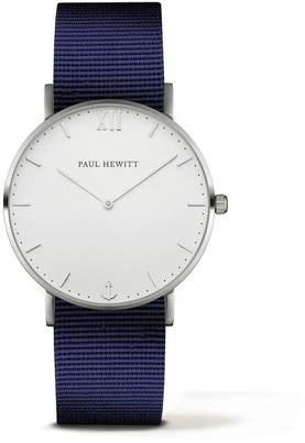 PAUL HEWITT Sailor Line Watch Silver White Sand Navy Blue PH-SA-S-St-W-N-20 - Paul Hewitt miesten rannekellot - PH-SA-S-St-W-N-20 - 1