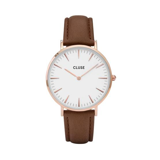 Cluse rannekello CL18010 La Boheme Rose Gold White-Brown - Cluse naisten rannekellot - CL18010 - 1