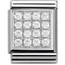Nomination pala - Pave CZ hopea - 332310 06 - Silver Shine - 332311-01 - 0