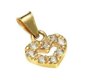 Kultainen sydän riipus kahdeksalla zirkoneilla 17- PN-1501 - Kultaiset  riipukset - 17- 3b9384031e