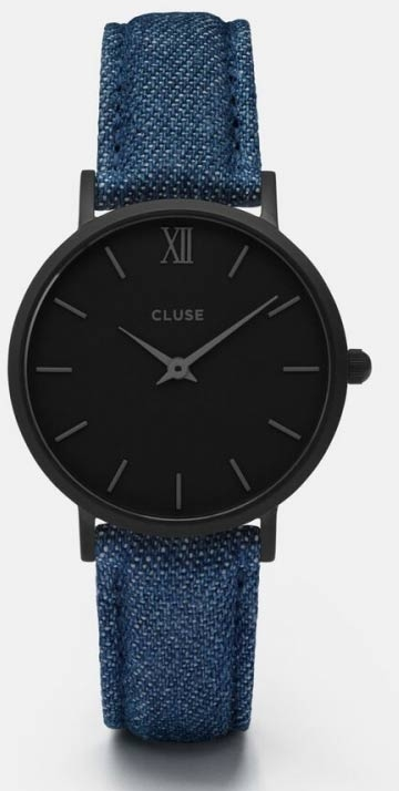 CLUSE Minuit Full Black Denim CL30031 - Cluse naisten rannekellot - CL30031 - 1