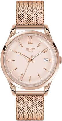 Henry London Shoreditch Rose Mesh HL39-M-0166 - Henry London miesten rannnekellot - HL39-M-0166 - 1