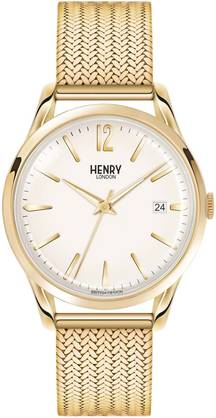 Henry London Westminster Gold Mesh HL39-M-0008 - Henry London miesten rannnekellot - HL39-M-0008 - 1