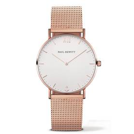 PAUL HEWITT Sailor Line Watch Rose Gold White Sand Metal Watchstrap Rose Gold