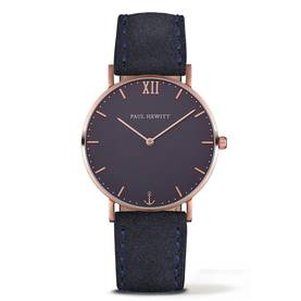 PAUL HEWITT Sailor Line Watch Rose Gold Blue Lagoon Navy Blue - Paul Hewitt miesten rannekellot - PH-SA-R-St-B-6M - 1
