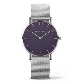 PAUL HEWITT Sailor Line Watch Silver Blue Lagoon Metal Watchstrap Silver PH-SA-S-St-B-4M - Paul Hewitt miesten rannekellot - PH-SA-S-St-B-4M - 1