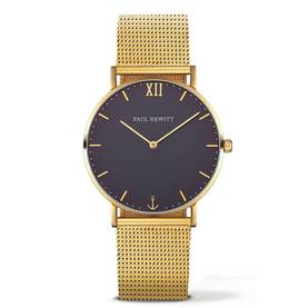 PAUL HEWITT Sailor Line Watch Gold Blue Lagoon Metal Watchstrap Gold - Paul Hewitt naisten rannekellot - PH-SA-G-Sm-B-4M - 1