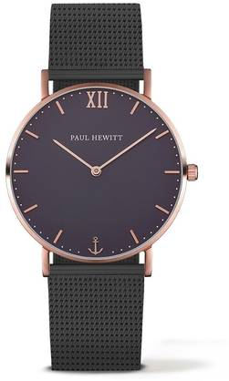 PAUL HEWITT Sailor Line Watch Rose Gold Blue Lagoon Metal Watchstrap Black - Paul Hewitt miesten rannekellot - PH-SA-R-St-B-5M - 1