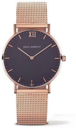 PAUL HEWITT Sailor Line Watch Rose Gold Blue Lagoon Metal Watchstrap Rose Gold - Paul Hewitt naisten rannekellot - PH-SA-R-Sm-B-4M - 1