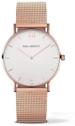 PAUL HEWITT Sailor Line Watch Rose Gold White Sand Metal Watchstrap Rose Gold PH-SA-R-St-W-4M - Paul Hewitt miesten rannekellot - PH-SA-R-St-W-4M - 1