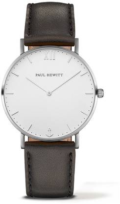 PAUL HEWITT Sailor Line Watch Silver White Sand Leather Classic Black PH-SA-S-St-W-2M - Paul Hewitt miesten rannekellot - PH-SA-S-St-W-2M - 2