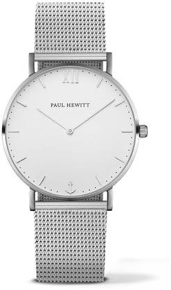PAUL HEWITT Sailor Line Watch Silver White Sand Metal Watchstrap Silver PH-SA-S-St-W-4M - Paul Hewitt miesten rannekellot - PH-SA-S-St-W-4M - 1