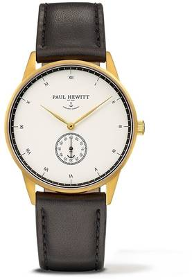 PAUL HEWITT Signature Line Watch Nautical Gold MARK I White Ocean Leather Classic Black - Paul Hewitt miesten rannekellot - PH-M1-G-W-2M - 1
