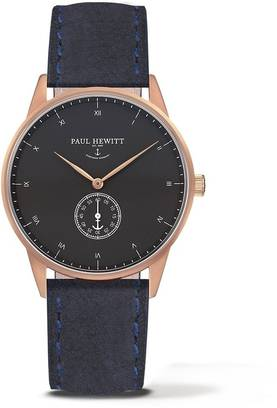 PAUL HEWITT Signature Line Watch Rose Gold MARK I Black Sea Suede Navy Blue, tuotenumero:PH-M1-R-B-6M - Paul Hewitt miesten rannekellot - PH-M1-R-B-6M - 1