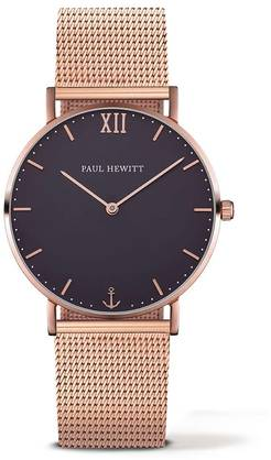 Paul Hewitt mesh strap medium rose gold - Paul Hewitt miesten rannekellot - PH-SA-R-St-B-4M - 1
