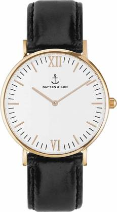 Kapten & Son Campina Black Leather KS-R-36-W-15R - Kapten & Son rannekellot - KS-R-36-W-15R - 1