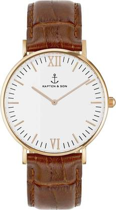 Kapten & Son Campina Brown Croco Leather Rose KS-R-36-W-19R - Kapten & Son rannekellot - KS-R-36-W-19R - 1