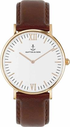 Kapten & Son Campina Brown Leather Rose KS-R-36-W-17-R - Kapten & Son rannekellot - KS-R-36-W-17-R - 1