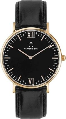 Kapten & Son Campina All Black Rose KS-R-36-B-15R - Kapten & Son rannekellot - KS-R-36-B-15R - 1