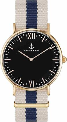 Kapten & Son Campina Black Roadtrip Rose KS-R-36-B-3R - Kapten & Son rannekellot - KS-R-36-B-3R - 1