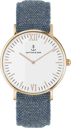 Kapten & Son Campina Blue Canvas Rose KS-R-36-W-24S - Kapten & Son rannekellot - KS-R-36-W-24S - 1
