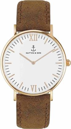 Kapten & Son Campina Brown Vintage Leather Rose KS-R-36-W-17S - Kapten & Son rannekellot - KS-R-36-W-17S - 1