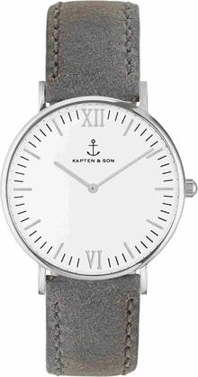 Kapten & Son CAMPINA Grey Vintage Leather Silver -  - KS-S-36-W-16W - 2